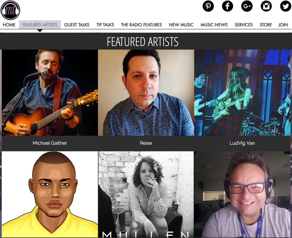 June Featured Artist on Music Talks